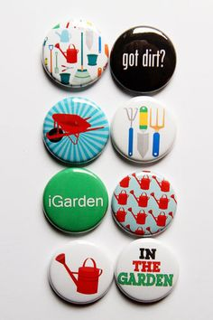 In the Garden Flair by aflairforbuttons on Etsy, $6.00