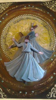 Whirling Dervish, Dance Paintings, Turkish Art, Sufi, Decoupage, Spirituality, Paper Crafts, Princess Zelda, Culture