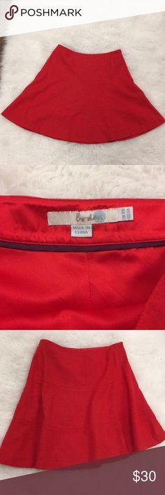 Red Boden Swing Skirt Oh my God. Adorable Boden wool-blend swing skirt. Bright red-orange color. Like new! Boden Skirts
