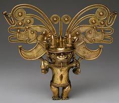 -- Figure Pendant -- Century -- Colombia -- Gold -- The Metropolitan Museum of Art Historical Artifacts, Ancient Artifacts, Objets Antiques, Colombian Art, Inka, Art Antique, Indigenous Art, Ancient Jewelry, Sculpture