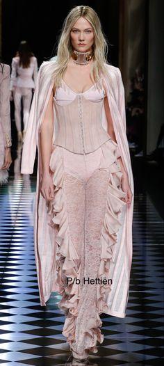 Ballerina Pink, Ethnic Dress, Karlie Kloss, Bustiers, Long Dresses, Corsets, Balmain, Blush Pink, Runway Fashion