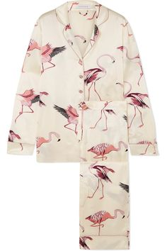 cf19ad33bb Flamingo Silk Pajama Set Mens Silk Pajamas