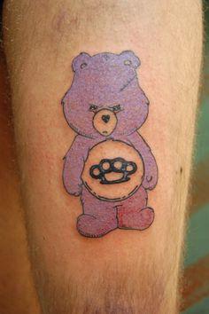 Cute Tattoo Design | Stylish Bear Tattoo Design For Leg Cute Bear Tattoo Design ...