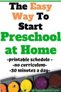 Homeschool Preschool Schedule: Getting Started