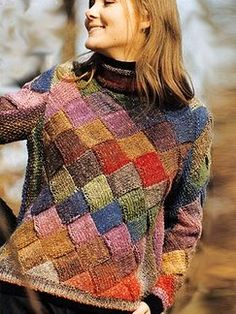 Noro Silk Garden looks great in Entrelac. I am definitely learning this stitch, if it kills me! Loom Knitting, Knitting Stitches, Crochet Designs, Knitting Designs, Stitch Fit, Pulls, Knitwear, Knit Crochet, Knitting Patterns