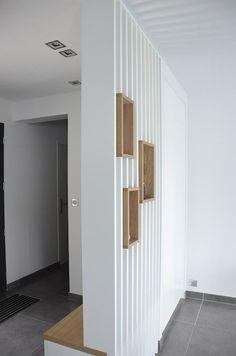 Modern Minimalist Bulkhead Room Divider Ideas For Inspiration Wood Partition, Living Room Partition Design, Room Partition Designs, Living Room Designs, Living Room Decor, Living Rooms, Wooden Decor, Modern Minimalist, Entrance