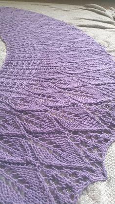Free Pattern: Cotton Bam Boo Kudzu Shawlette by Rachel Henry