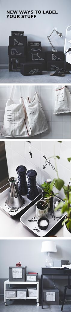 Organization doesn't need to be boring! Up your labeling game for boxes, bags, drawers and bottles with these five new & fun IKEA ideas to label things.