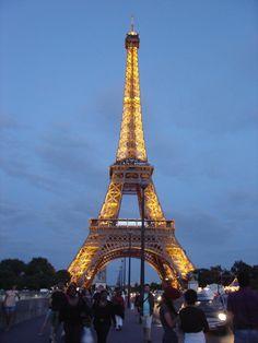 Night view of Eiffel Tower, Paris by Eustaquio Santimano on Flickr