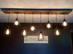 The Eagles' Nest rustic barn wood chandelier , Farmhouse Lighting, Industrial Farmhouse, Rustic Lighting, Industrial Lighting, Farmhouse Chandelier, Lighting Ideas, Club Lighting, Industrial Style, Industrial Design