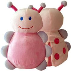 "Ladybug Cubbies measures 16"" from head to toe and has a removable stuffing pouch to enable personalization. The Cubby has two removable pods - from the head and body. $12.95"