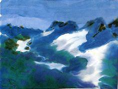 Paysage de montagne (également connu sous le bleu et vert) Emile Nolde