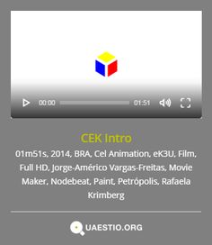 """CEK Intro"" (2014) @ek3u @JorgeAmVF @rafaelakrimberg #Petrópolis #BRA #Film #CelAnimation #MovieMaker #Nodebeat #Paint https://quaestio.org/cek-intro"