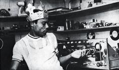 King Tubby, one of the first and most famous Dub producers making electronic music back in the 60s.