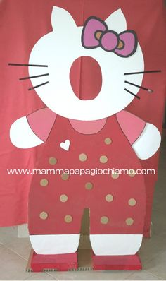 #hello kitty #hello kitty party ideas #hello kitty birthday; #hellokitty cardboard; #cardboard hello kitty