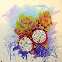 Minnie Valero: DRAGON FRUIT, acrylic on canvas