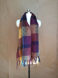 vintage 80's loose weave scarf / wool scarf / wrap / autumn / fall clothing by…