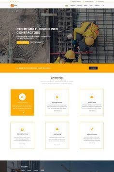 Revo Construction Multi - Page Web PSD Template, #Multi #Construction #Revo #Page #PSD