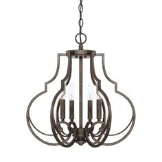 Welcome guests with the traditional grandeur and warm, rich Renaissance Brown finish of our Sinclair 4-light foyer fixture. It radiates elegance through its timeless style and airy, open design, making it perfect in foyers or dining areas. Also available in a flush mount option, it can be used in spaces with limited vertical height.