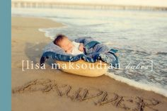 Baby in a Basket by the Ocean