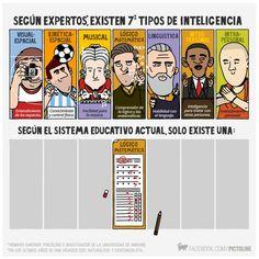 Según expertos existen 7 tipos de inteligencia | Por Pictoline [Infografía - Ilustración - Dato]