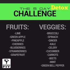 juice grocery list for the 5 day Detox . @Mankofit @mankofit_challenge Instagram photos | Websta