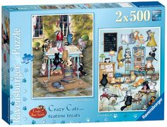 Ravensburger Crazy Cats Tea Time Treats Puzzles (2 x 500 ... https://www.amazon.com/dp/B00AE676EI/ref=cm_sw_r_pi_dp_x_uZIezb87RHXHM