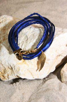 armband Bracelet Blue Love Wings - HanneHaves