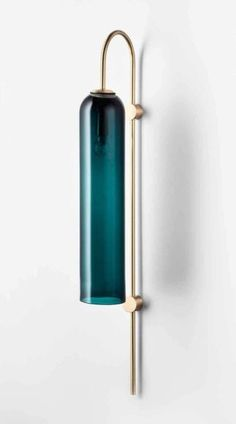 Guest edit: Melting Butter share their highlights from NYCxDesign 2017: Articolo's float wall sconce in brass and drunken emeraldThe elongated proportions and richly hued shade harks back to Hollywood Regency style but with a refined contemporary twist. Visit: Melting Butter