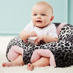 Hugaboo plush support seat // great idea... hands free time for mum, help for little one to learn to sit! #productdesign