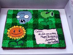 Plants vs. Zombies cake...brains!