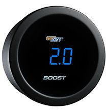 52mm 2-1//16 Tinted Lens GlowShift 10 Color Digital Air Temperature Gauge Kit Reads Outside Air Temp from -40-200 Degrees F Includes Sensor Multi-Color LED Display