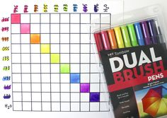 Make your own blending and mixing guide for your Tombow Dual Brush Pens