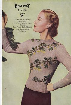 1940s knitting pattern