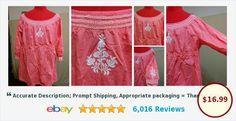 BUY IT NOW! Hippie Smock Top Blouse Empire Waist Brina & Em Plus Size 2X Cotton Embroidered