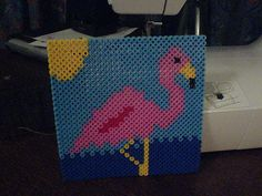 Hama / Perler bead Flamingo picture by iheartgeography