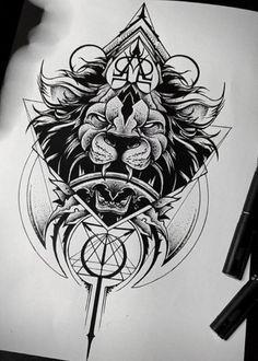 Not a fan of the teeth though Trev - Dottism Geometry Tattoo - Sake Tattoo Crew Tatuajes Tattoos, Leg Tattoos, Body Art Tattoos, Sleeve Tattoos, Female Tattoos, Tatoos, Unique Tattoos, Cool Tattoos, Tattoos For Women