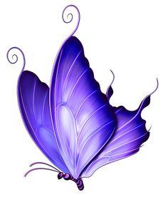 Animals For > Blue Butterfly Clip Art Butterfly Clip Art, Butterfly Images, Butterfly Drawing, Butterfly Painting, Butterfly Kisses, Purple Butterfly Tattoo, Vintage Butterfly, Art Papillon, Bild Tattoos