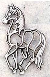 """Horse Standing pin Pewter"" - I really like this outline and pose"