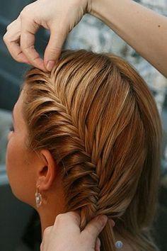 Колосок на длинные волосы