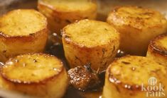 Potato fondant is good party starter french recipe.A classic, restaurant method of cooking potato which you can cook easily at home. It produces a deliciousl. Tapas, Homemade Recipe Books, Chocolate Covered Potato Chips, How To Cook Potatoes, Beignets, Special Recipes, Potato Recipes, Amazing Cakes, Food Inspiration