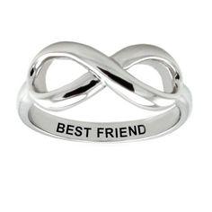 Pretty 925 Sterling Silver Friendship Infinity Ring 'Best Friend' $29.90 #PrettyAttitude #Jewelry