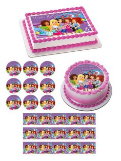 Lego Friends Edible Birthday Cake Topper
