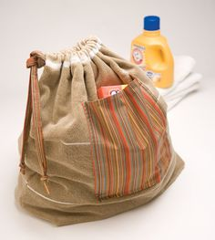 """""""Laundry Bag"""" from Sew the Perfect Bag--made from a bath towel!"""