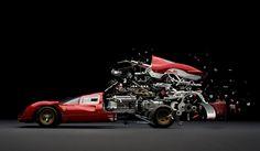 Fabien Oefner's Disintegrating Cars — Ferrari 330 P4