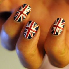 British Flag Nails.