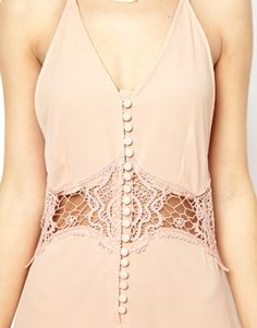 Image 3 ofJarlo Cami Strap Maxi Dress with Lace Insert