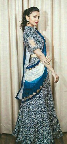 Elegant style Blouse Patterns, Saree Blouse Designs, Blouse Styles, Indian Dresses, Indian Outfits, Tandoori Masala, Trendy Sarees, Classic Wedding Dress, Saree Dress