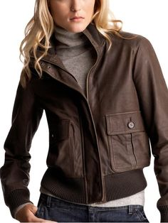 bomber jacket brown