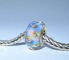Luccicare Lampwork Bead - Dream Bubbles -  Lined with Sterling Silver by Luccicare on Etsy